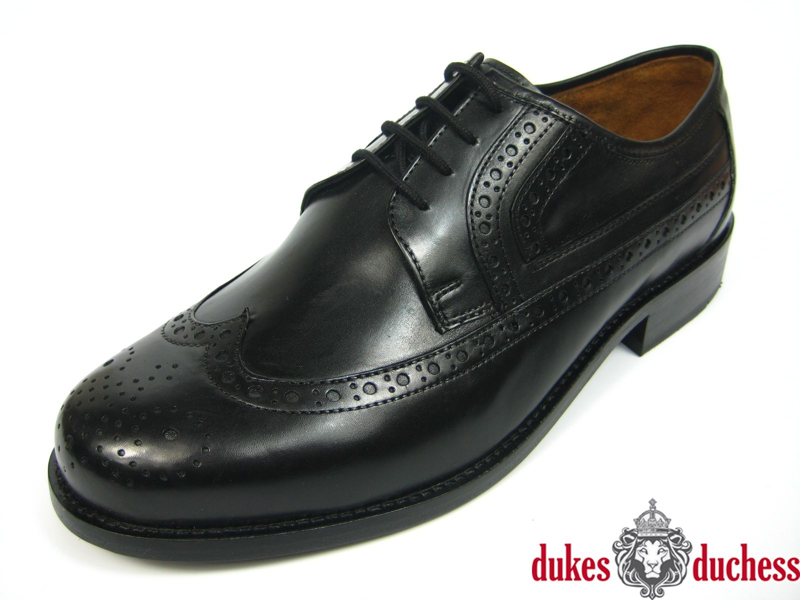 Manz Herren Leder Schuh Ledersohle 162092 K-Weite extra weit schwarz  Budapester   eBay abe623330e