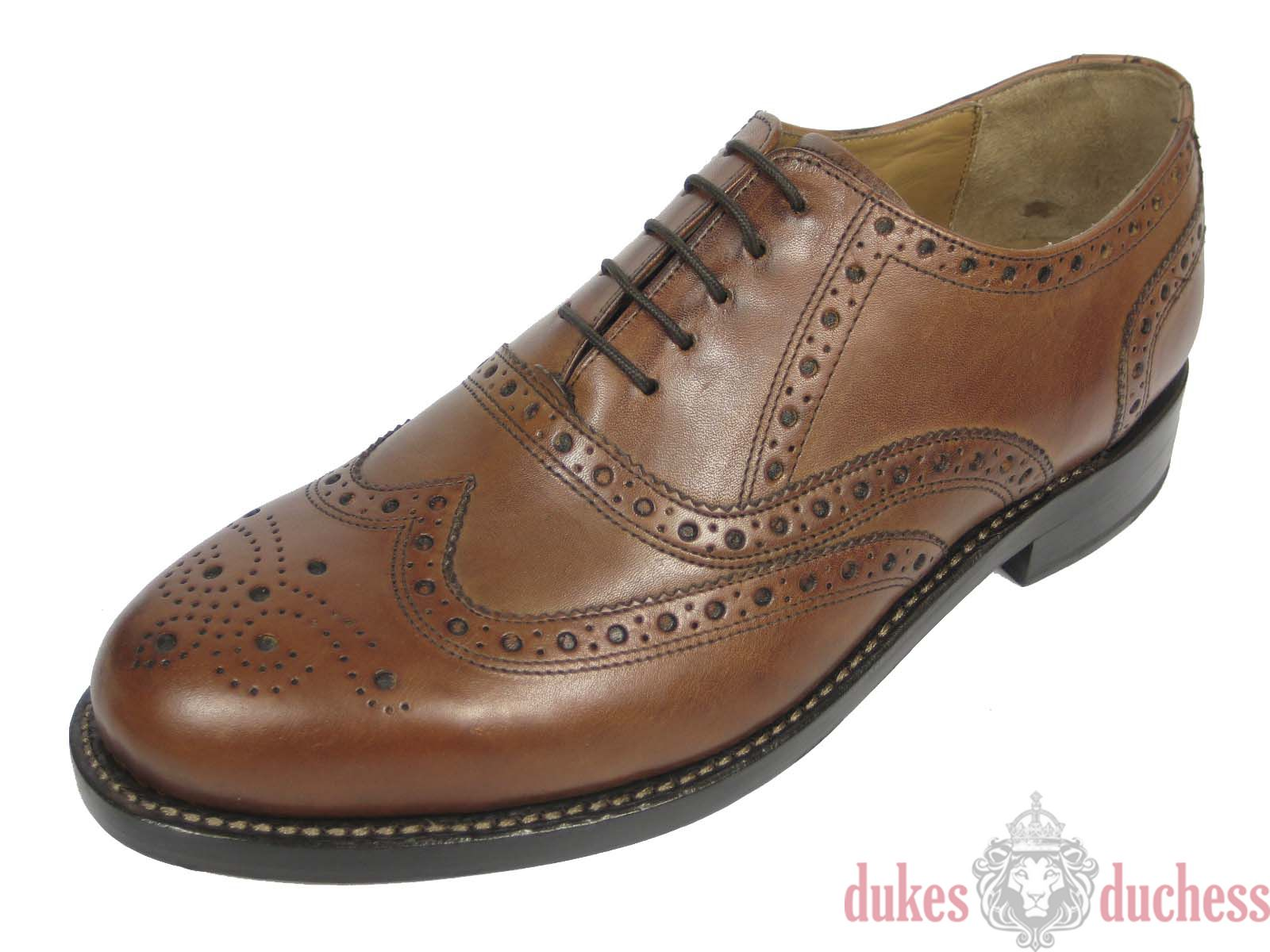 J.briggs Leather Shoes Frame Sewn Goodyear Welted Budapest Oxford Whisky Braun