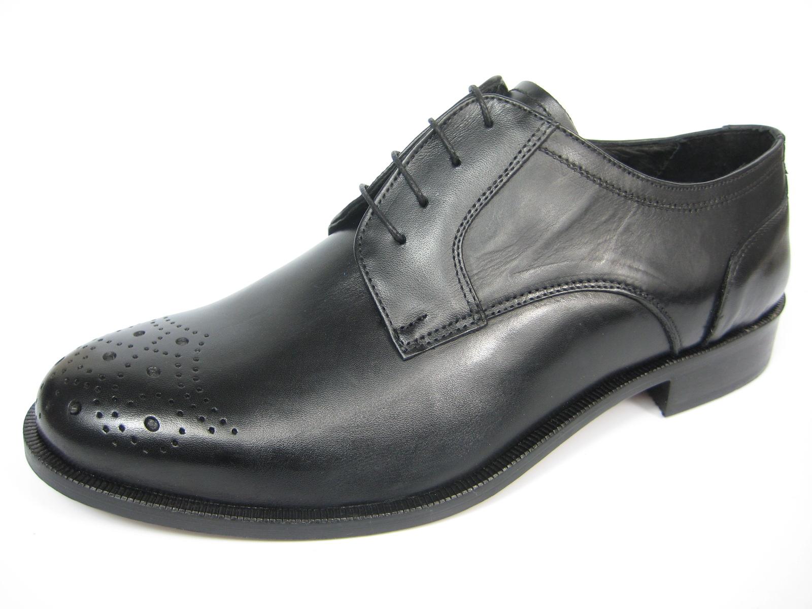 GIORGIO SCARPE 13114 Derby Leder Schuh Handgenäht Ledersohle schwarz//whisky