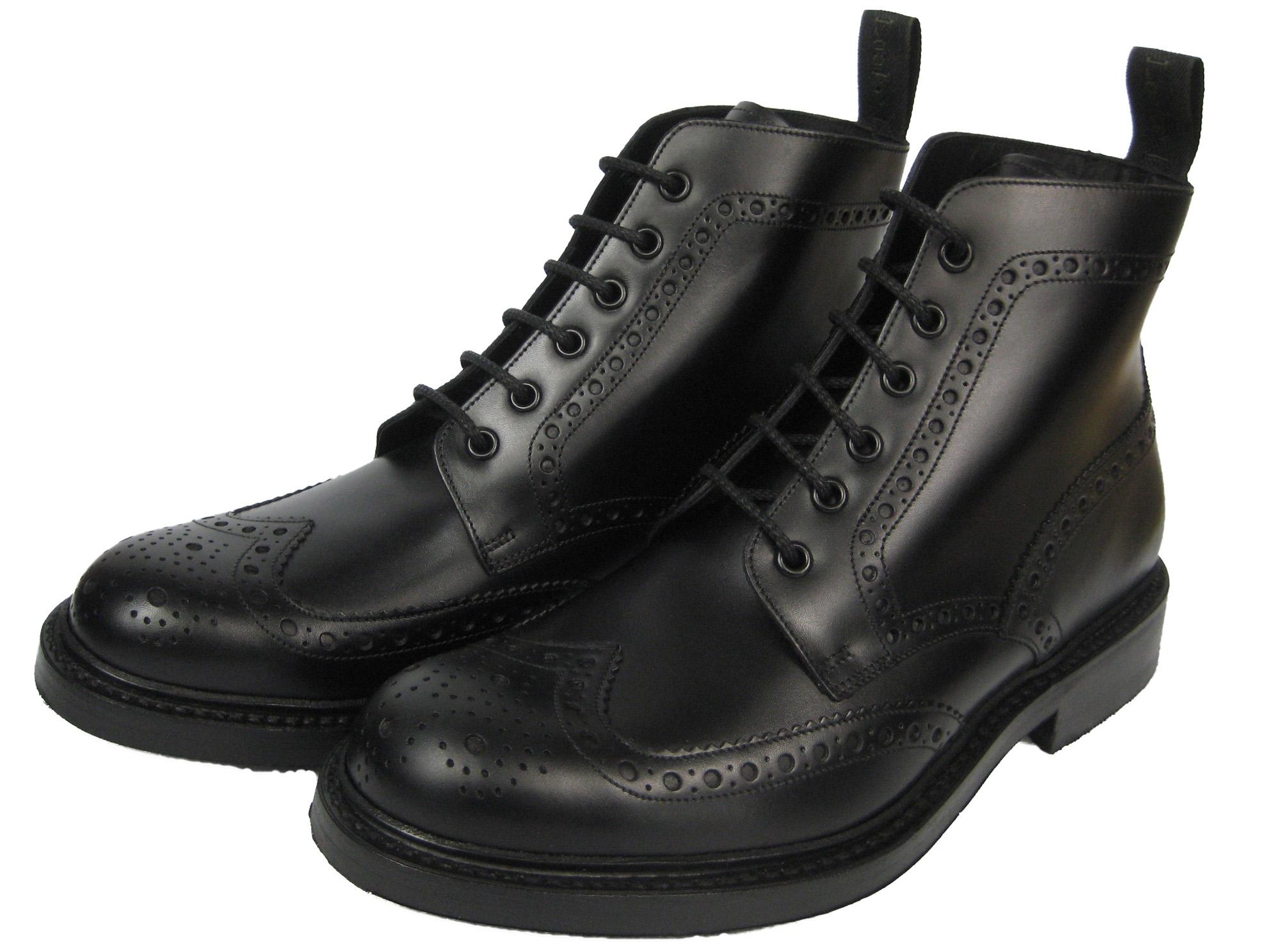 Alpha London Stiefel Brogue Budapester Boot Business Schuh Burgundy  5039